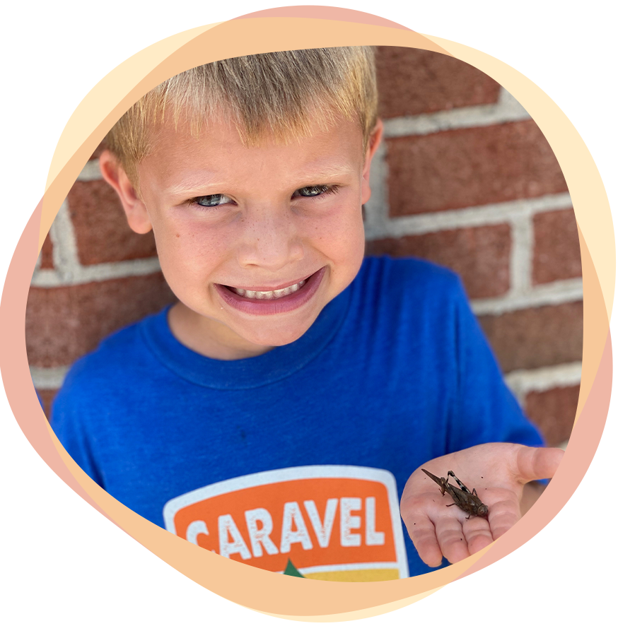 Camper with Cricket | Caravel Day Camp