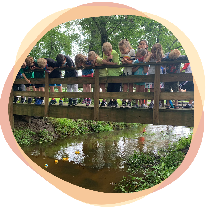 Campers at Creek | Caravel Day Camp